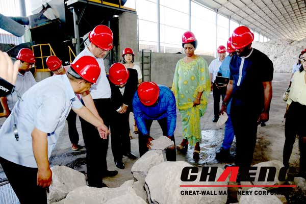 The governor of Nigeria visit CHAENG machinery